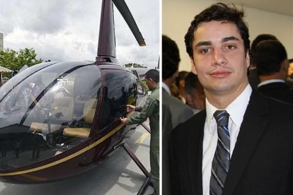 O helicóptero do deputado Gustavo Perrella