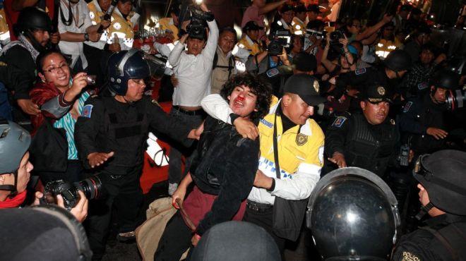 SÁSHENKA GUTIÉRREZ | EFEActos a los 5 meses de la desaparición de 43 estudiantes en México