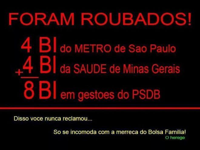 PSDB tucano corrupção bolsa família