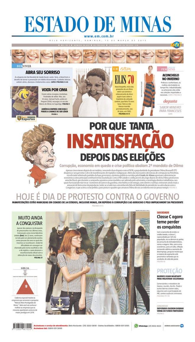Edição do dia 15. Propaganda marrom: o convite e a justificativa para o mineiro protestar