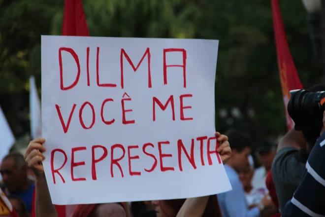 cartazes passeata dilma