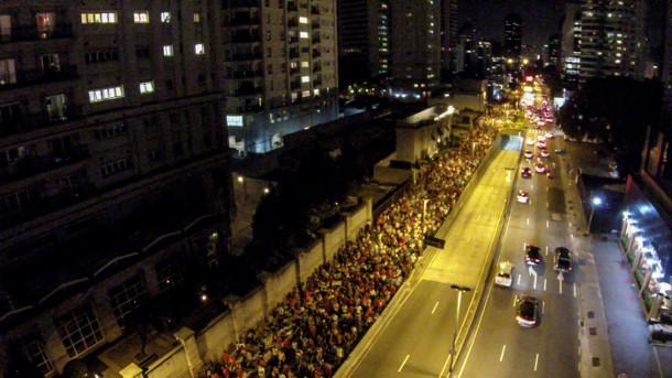 Cerca de 15 mil marcharam durante duas horas