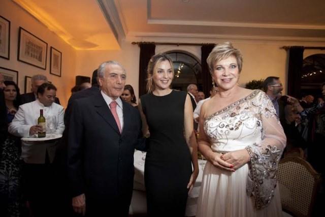 Com o vice-presidente da República, Michel Temer, e a vice-primeira-dama, Marcela Temer