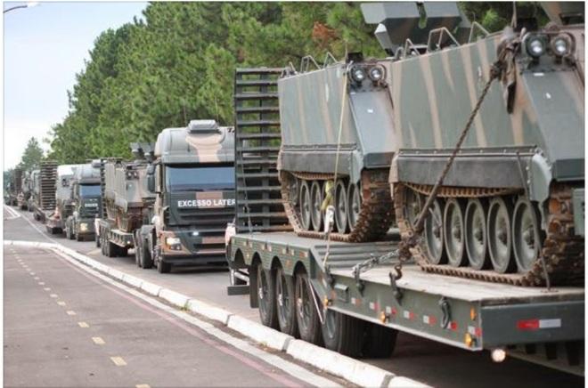 exército se movimenta