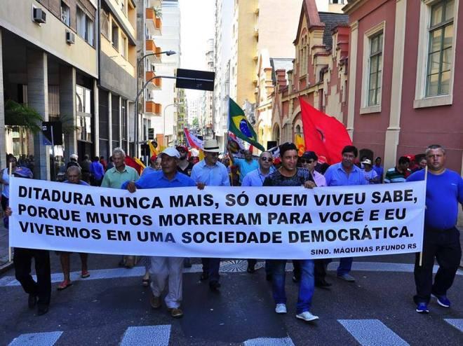 Ontem, 13 de março, em Porto Alegre