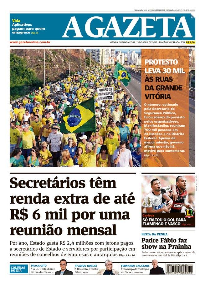 A Gazeta de Vitória contou 30 mil pessoas. Qual foto tem mais gente