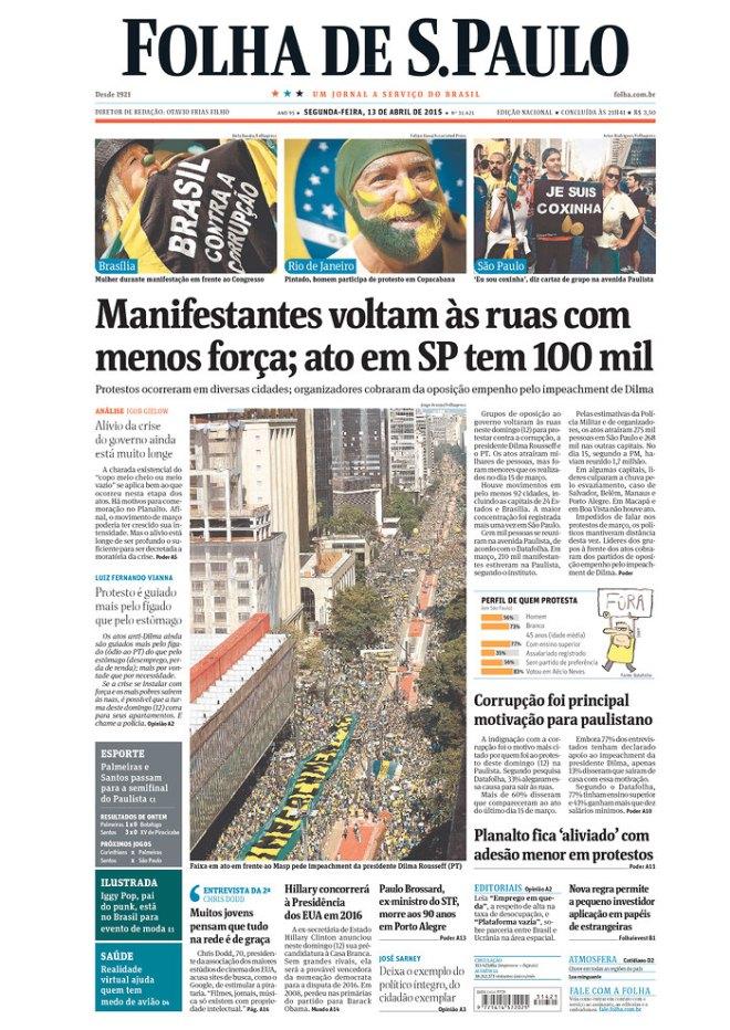 A Folha de São Paulo ora conta para mais ora para menos...