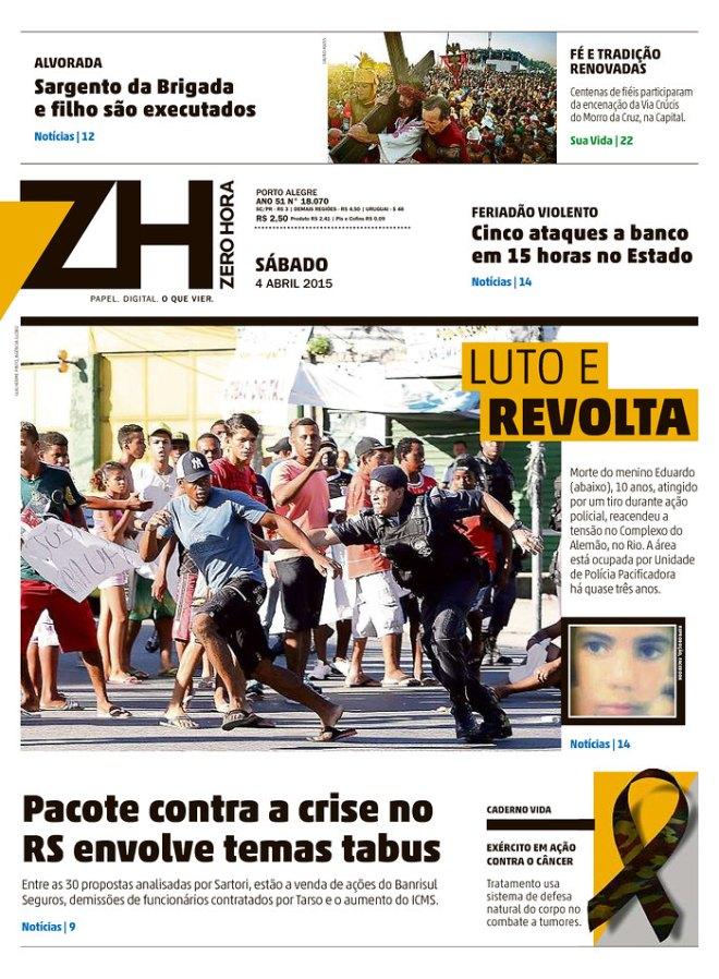 BRA_ZH Morte do menino Eduardo, 10 anos