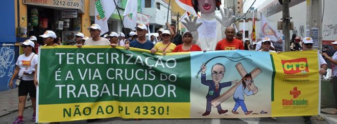 passeata Ceará contra terceirização
