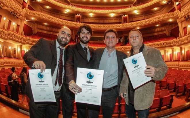 Os jornalistas Diego Ribeiro, Felippe Aníbal, Mauri König e Albari Rosa (Daniel Castellano/Gazeta)