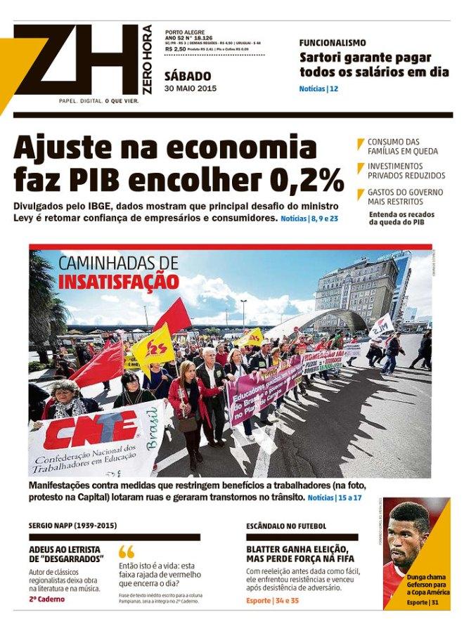 Jornal inimigo dos trabalhadores considera transtorno a luta contra a terceirização