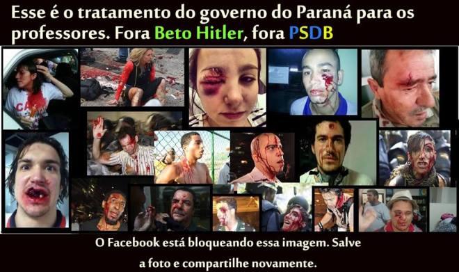 espancamentos Paraná Beto 29 abril