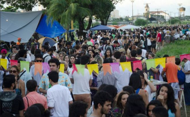 No dia 1º de junho, um evento cultural reuniu cerca de 10.000 pessoas no cais. Foto Marcelo Soares