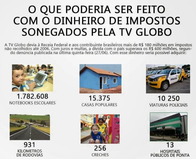 Globo Sonega2 tv televisão sonegação