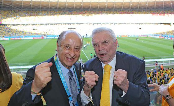 José Maria Marin e Marco Polo Del Nero, na Copa do Mundo do Brasil. / RICARDO STUCKERT/FOTOS PÚBLICAS/CBF