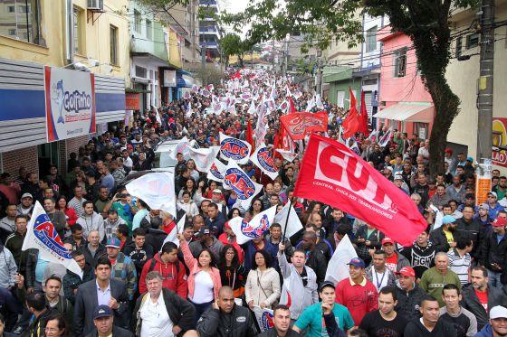 Protesto da CUT em São Bernardo do Campo. / ADONIS GUERRA (SMABC)