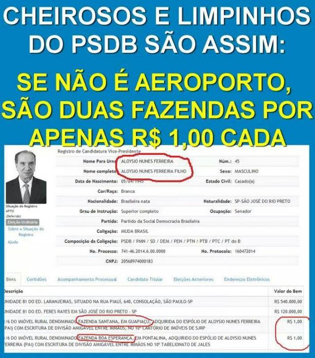 12 Aloysio Nunes vice Aécio PSDB fazenda