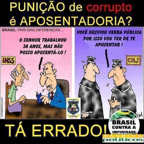 aposentadoria juiz corrupção