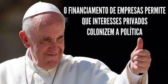 financiamento campanha papa