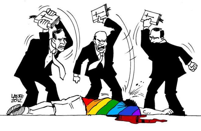homofobia religião indignados