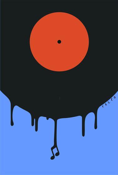 Velho e arranhado disco.  Por Alex Falcó Chang