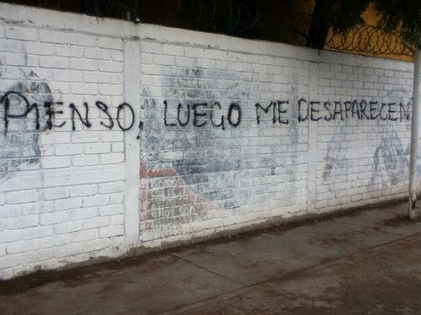 Pichação de muro no México