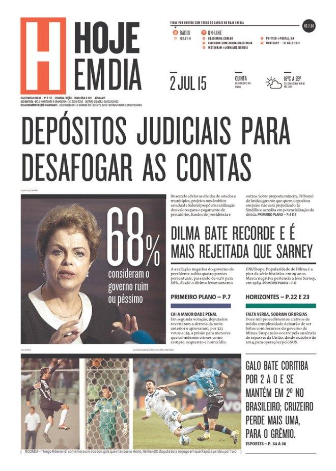 JORNAL DE PROPAGANDA TUCANA DE PROPRIEDADE DO GRUPO DE AÉCIO NEVES EM MINAS GERAIS
