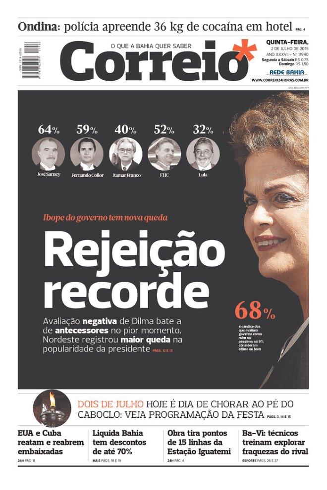 JORNAL DA BAHIA DE PROPAGANDA DA FAMÍLIA ANT6ONIO CARLOS MAGALHÃES E DO DEM, EX ARENA NA DITADURA E PFL