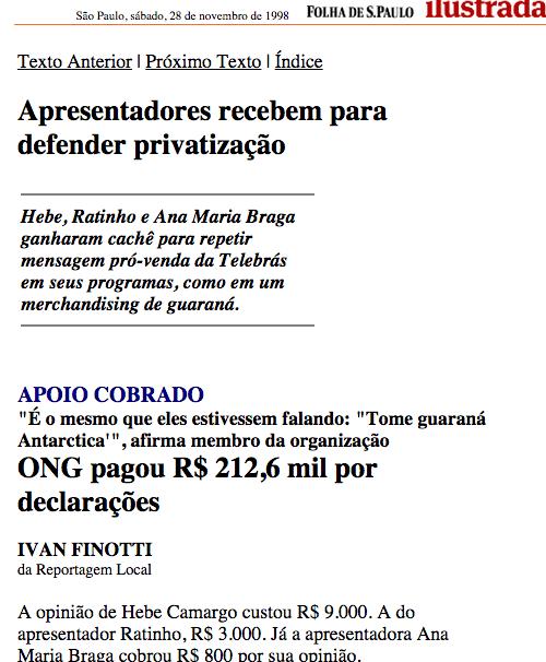 Hebe Ratinho Ana Maria Braga