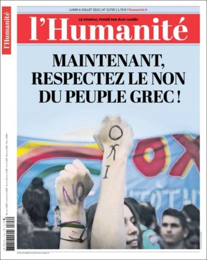 humanite. nao referendo oxi