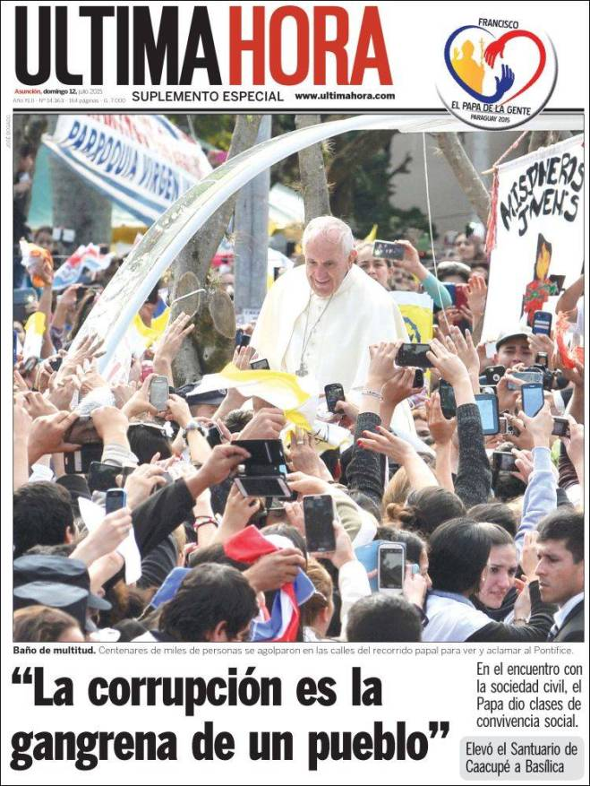 py_ultimahora. paraguai corrupção