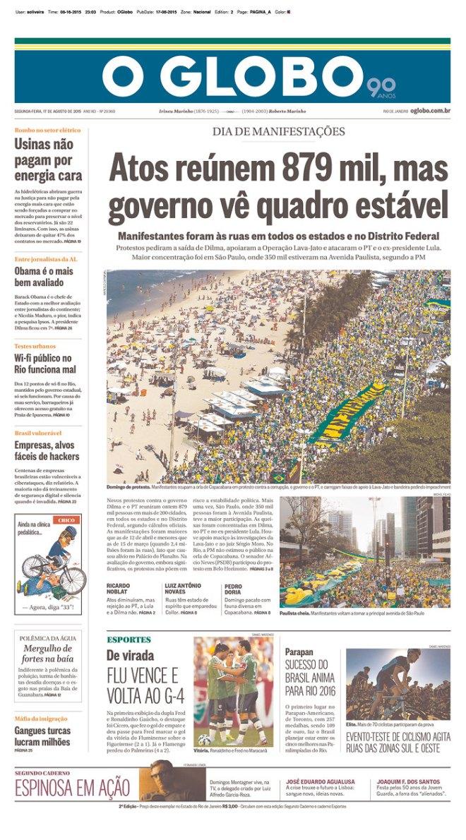 BRA_OG protesto junto menos um milão no Brasil todo