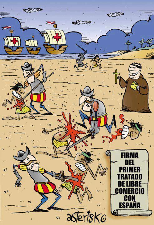 colonialismo empresas Espanha indignados