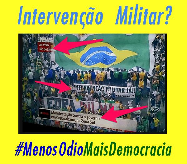 intervenção militar ditadura
