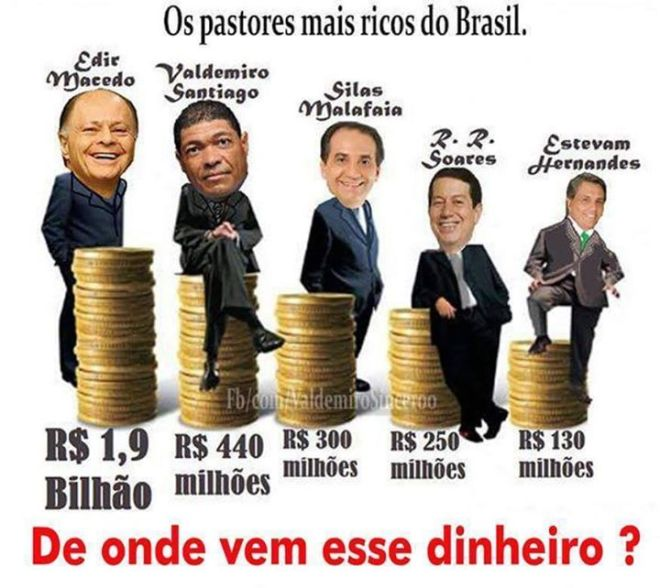 pastores deus dinheiro