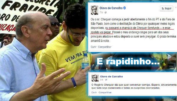 José Serra (PSDB) e Rogério Chequer