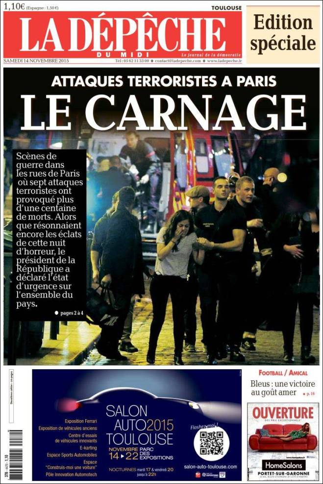 depeche. frança terror carnage