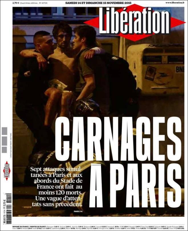 liberation. França terror carnages
